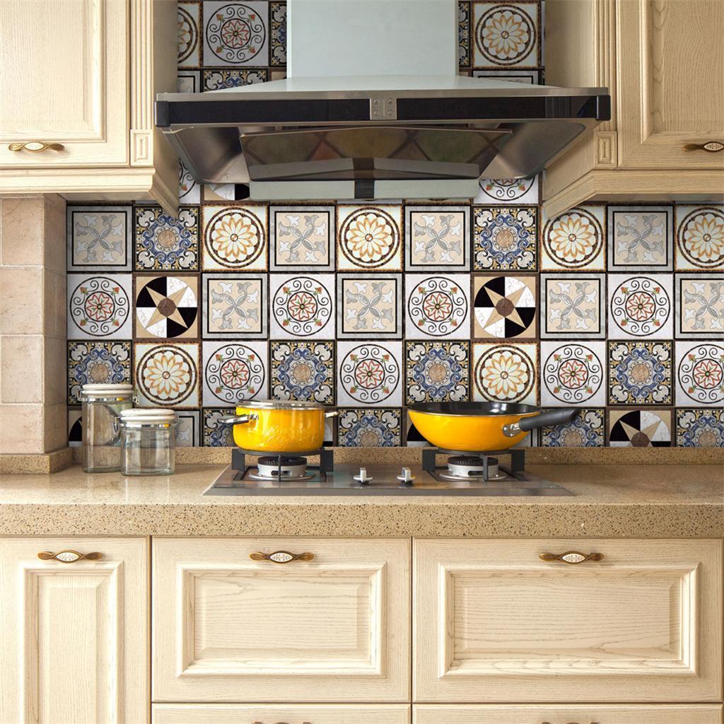 Blesiya DIY Mosaic Wall Tiles Sticker Kitchen Bath Tile ...