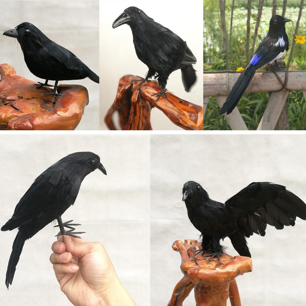 Oiseaux faux artificiels décoratifs de plume animale de plume avec la