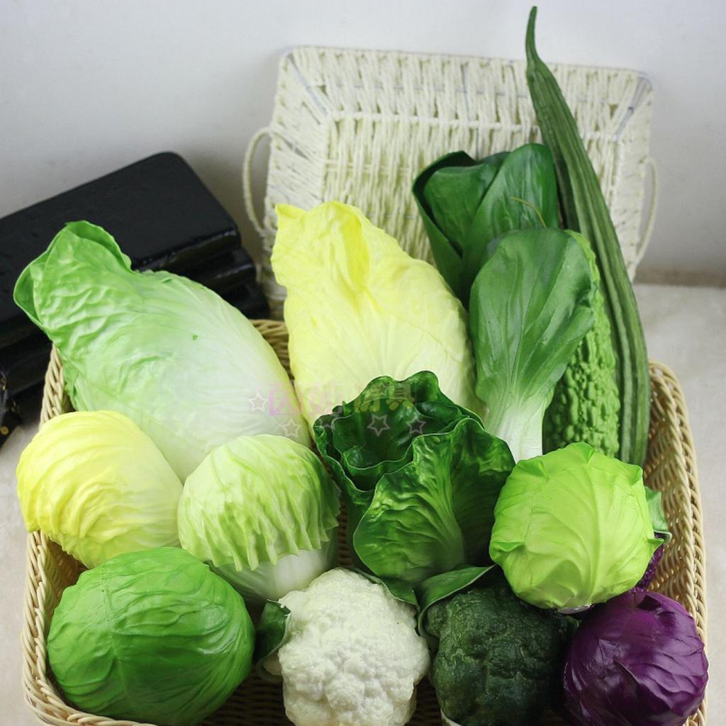 Verdure-Artificiali-Giocattolo-Educativo-Bambini-Decorativo-Casa-Cucina miniatura 15