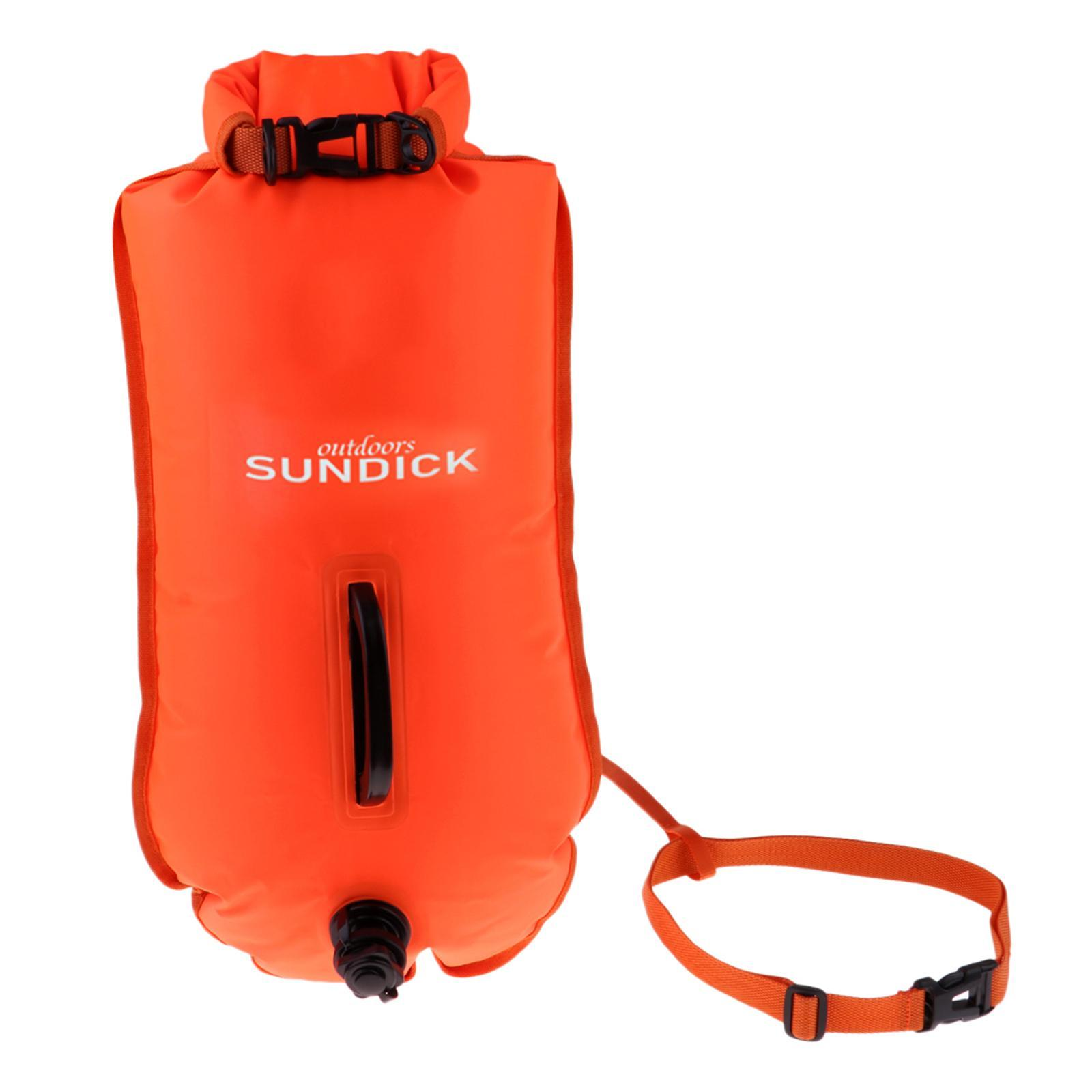 Safety-Swim-Buoy-Dry-Bag-Tow-Float-for-Open-Water-Swimmer-Swimming-Training thumbnail 3