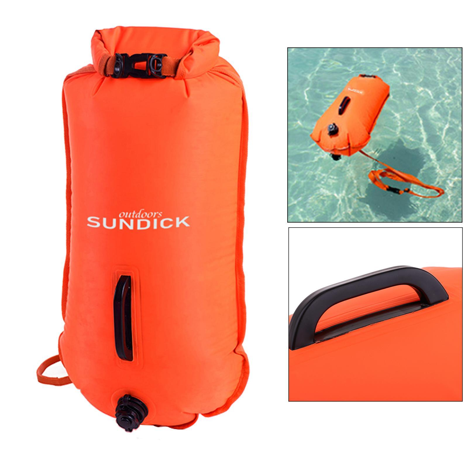 Safety-Swim-Buoy-Dry-Bag-Tow-Float-for-Open-Water-Swimmer-Swimming-Training thumbnail 6