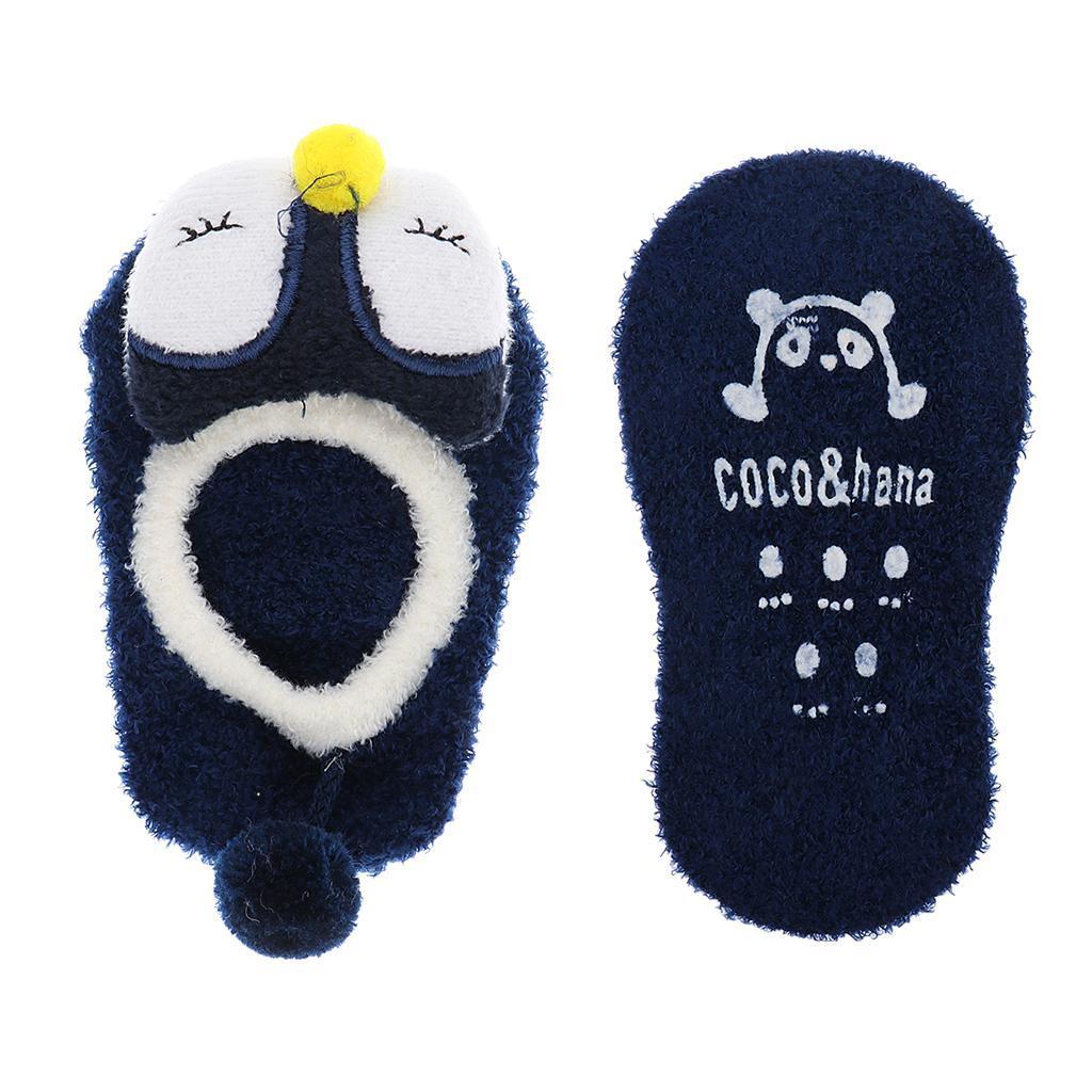 Chaussons-Bebe-Chaussettes-Bateaux-Antiderapant-Cartoon-Chaud-Pompon-Coton-Doux miniature 5
