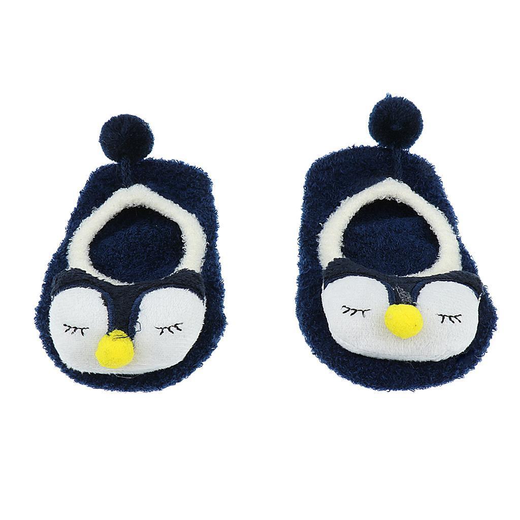 Chaussons-Bebe-Chaussettes-Bateaux-Antiderapant-Cartoon-Chaud-Pompon-Coton-Doux miniature 4