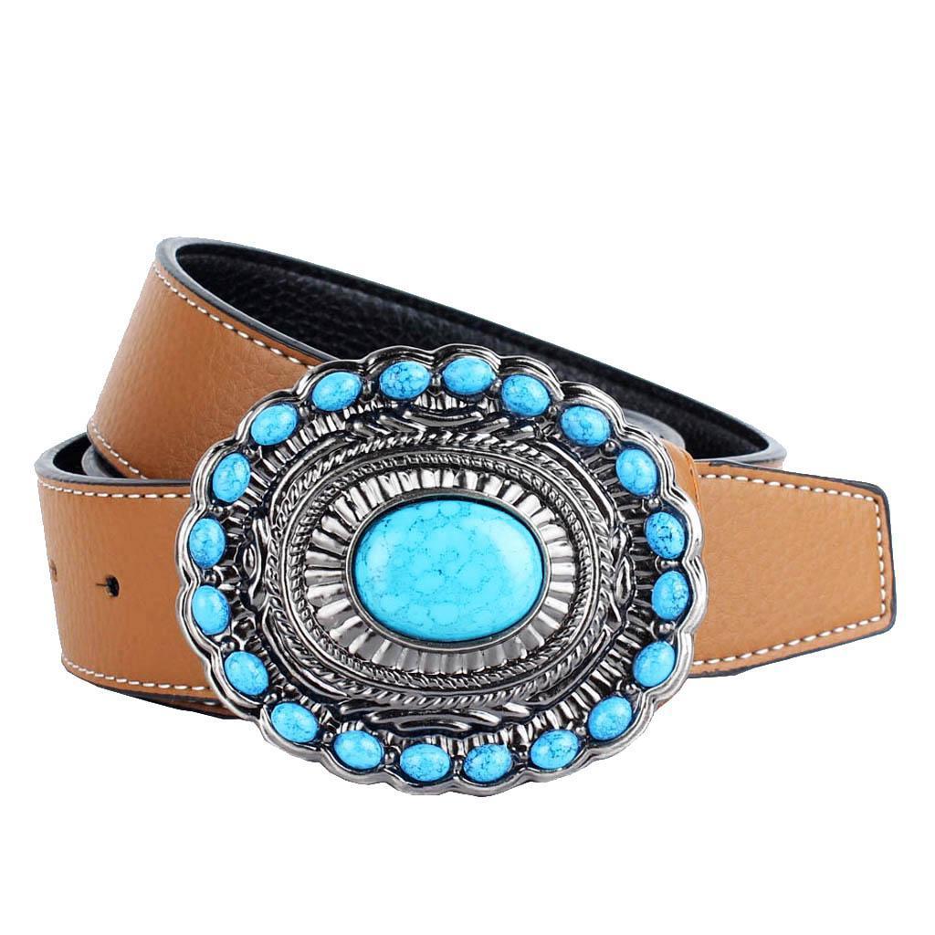 Cintura-da-cintura-con-fibbia-in-pelle-di-Bohemian-Western-Cowboy-PU miniatura 9