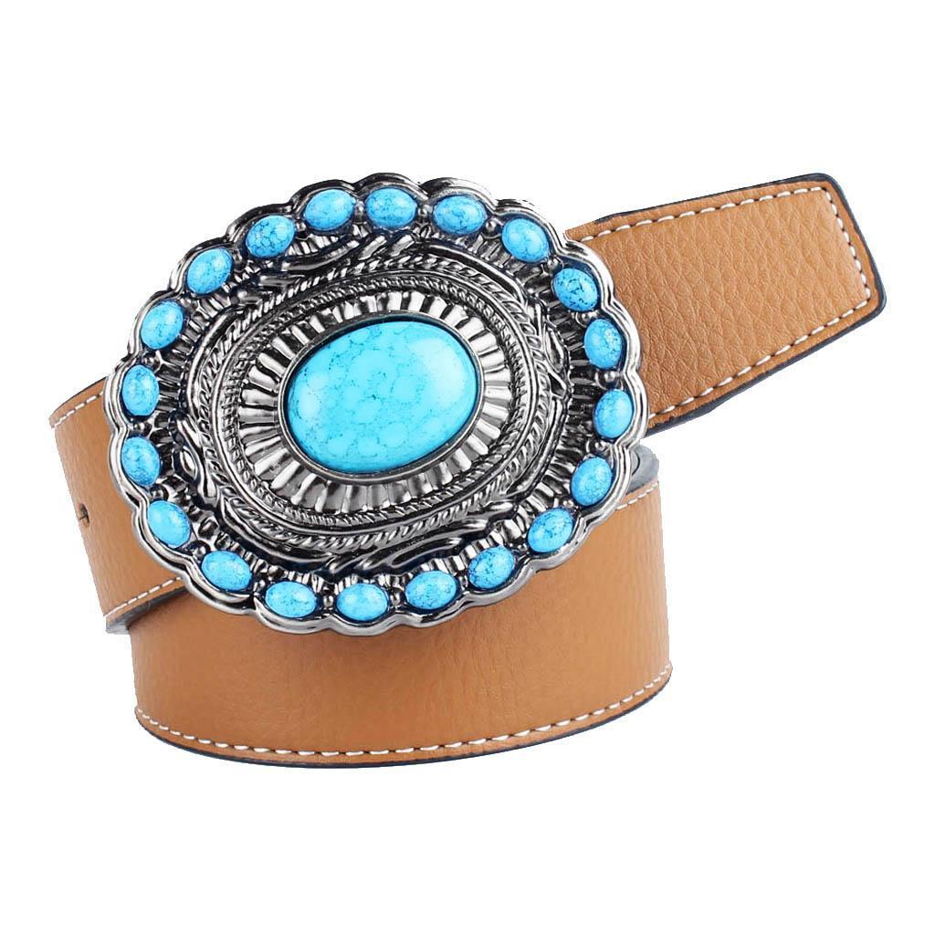 Cintura-da-cintura-con-fibbia-in-pelle-di-Bohemian-Western-Cowboy-PU miniatura 7