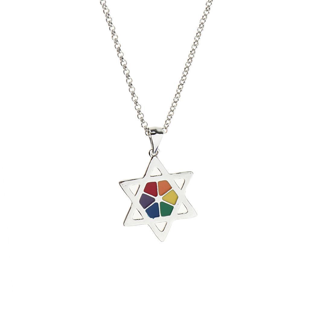 Gay-Lgbt-Pride-Rainbow-Flag-Charms-Pendant-Necklace-Men-Women-Unisex-Jewelry thumbnail 4