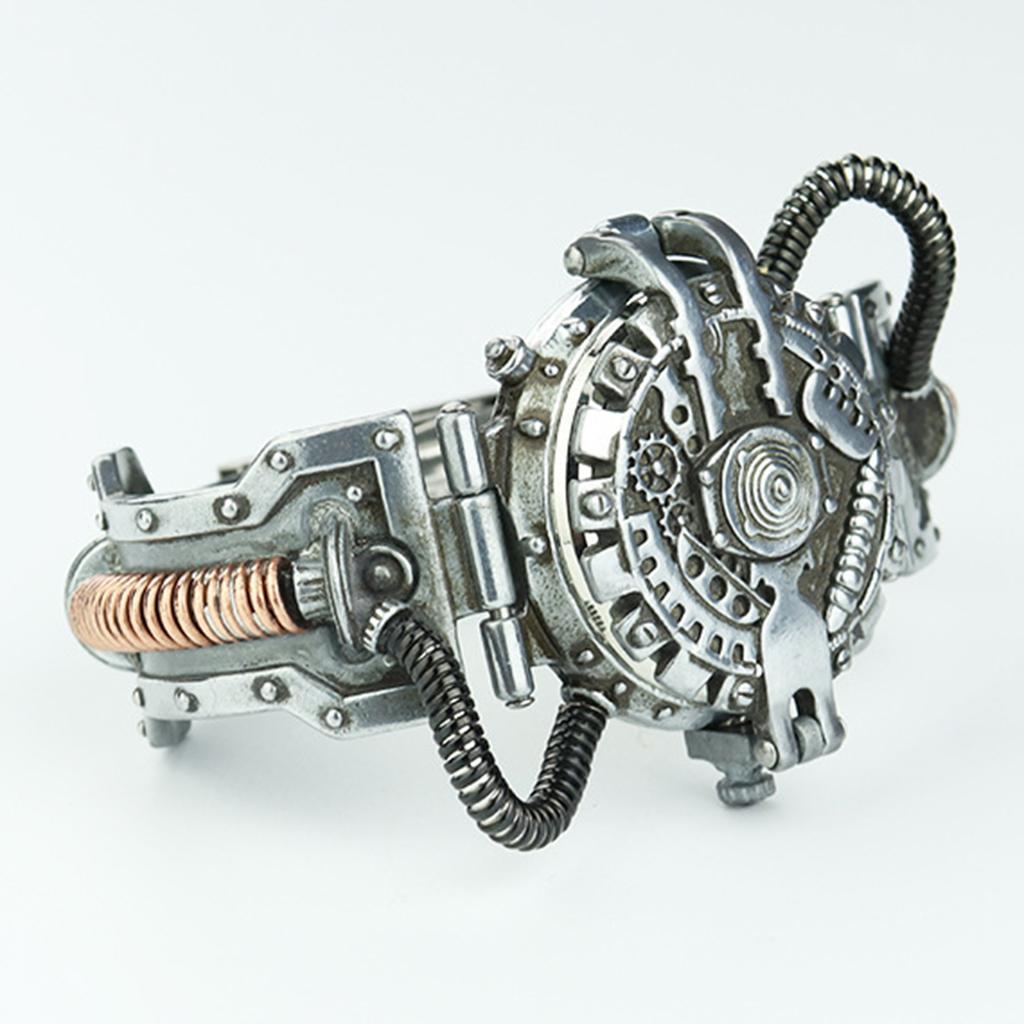 Orologio-Tascabile-da-Uomo-Stile-Steampunk-Gotico-Movimento-a-Quarzo miniatura 21