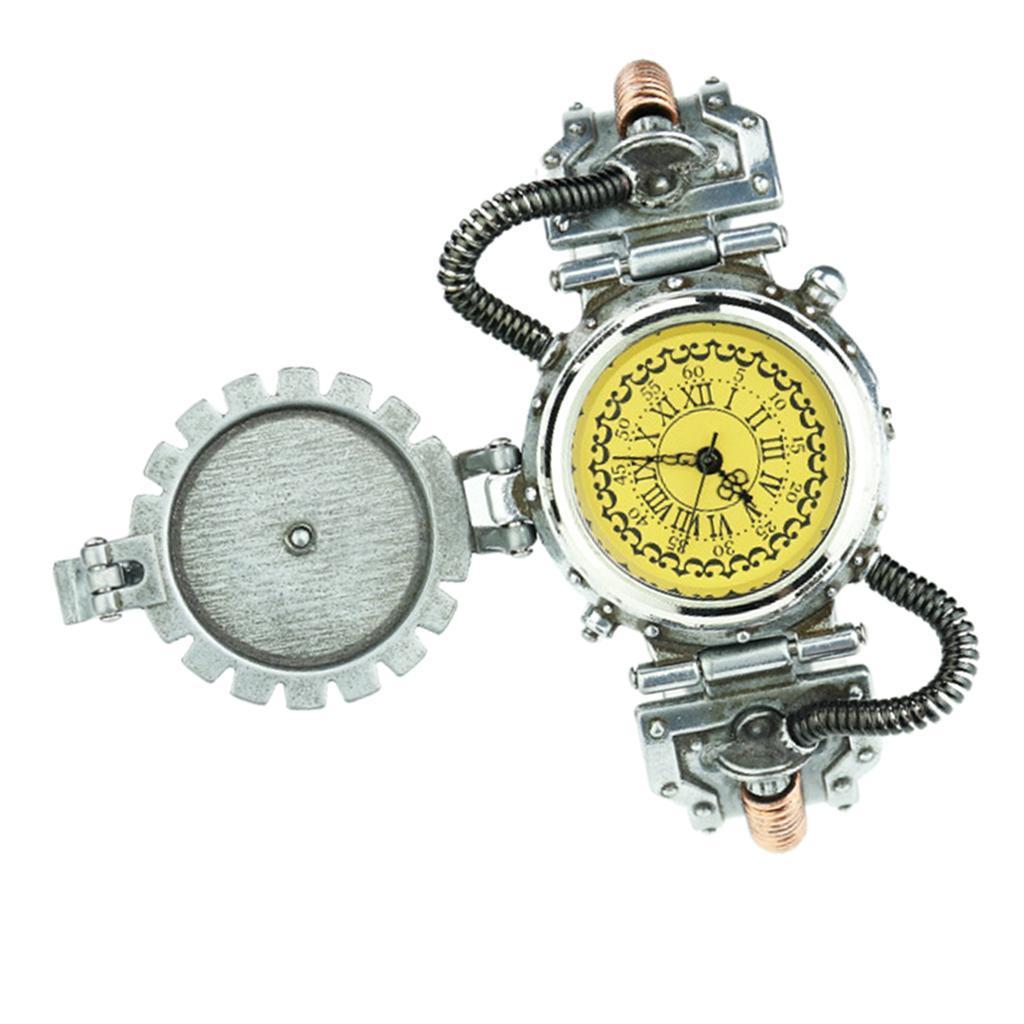 Orologio-Tascabile-da-Uomo-Stile-Steampunk-Gotico-Movimento-a-Quarzo miniatura 18