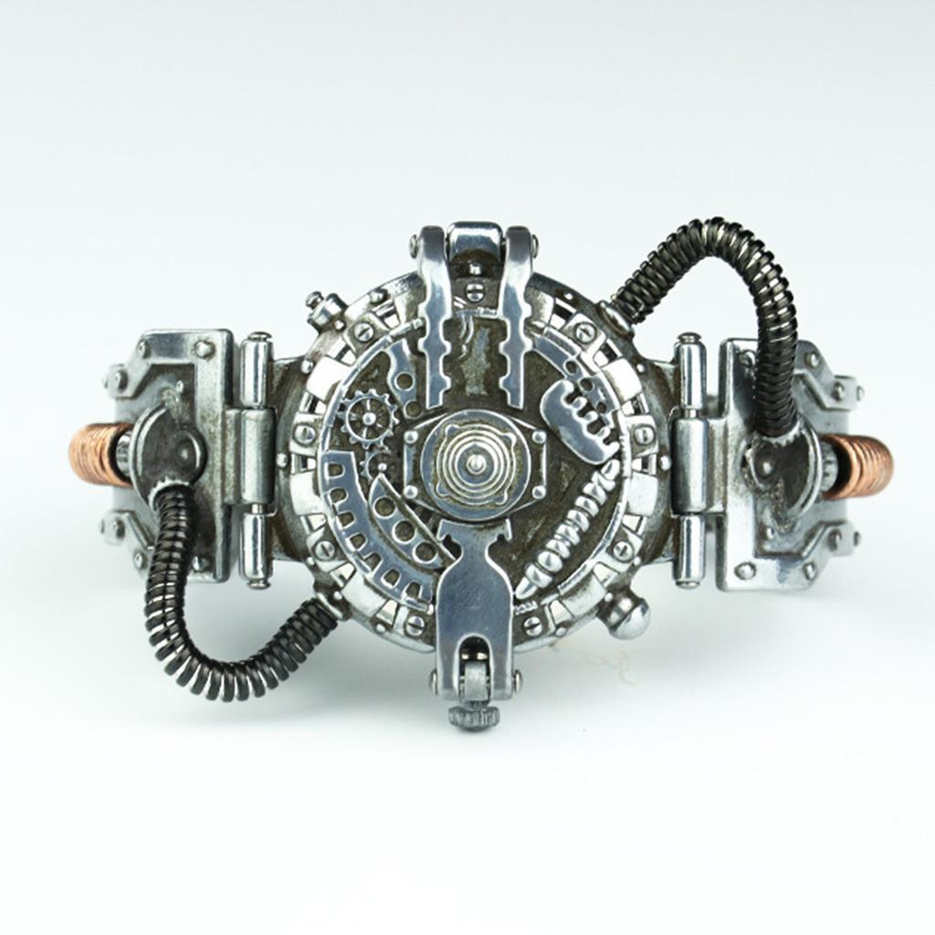 Orologio-Tascabile-da-Uomo-Stile-Steampunk-Gotico-Movimento-a-Quarzo miniatura 19