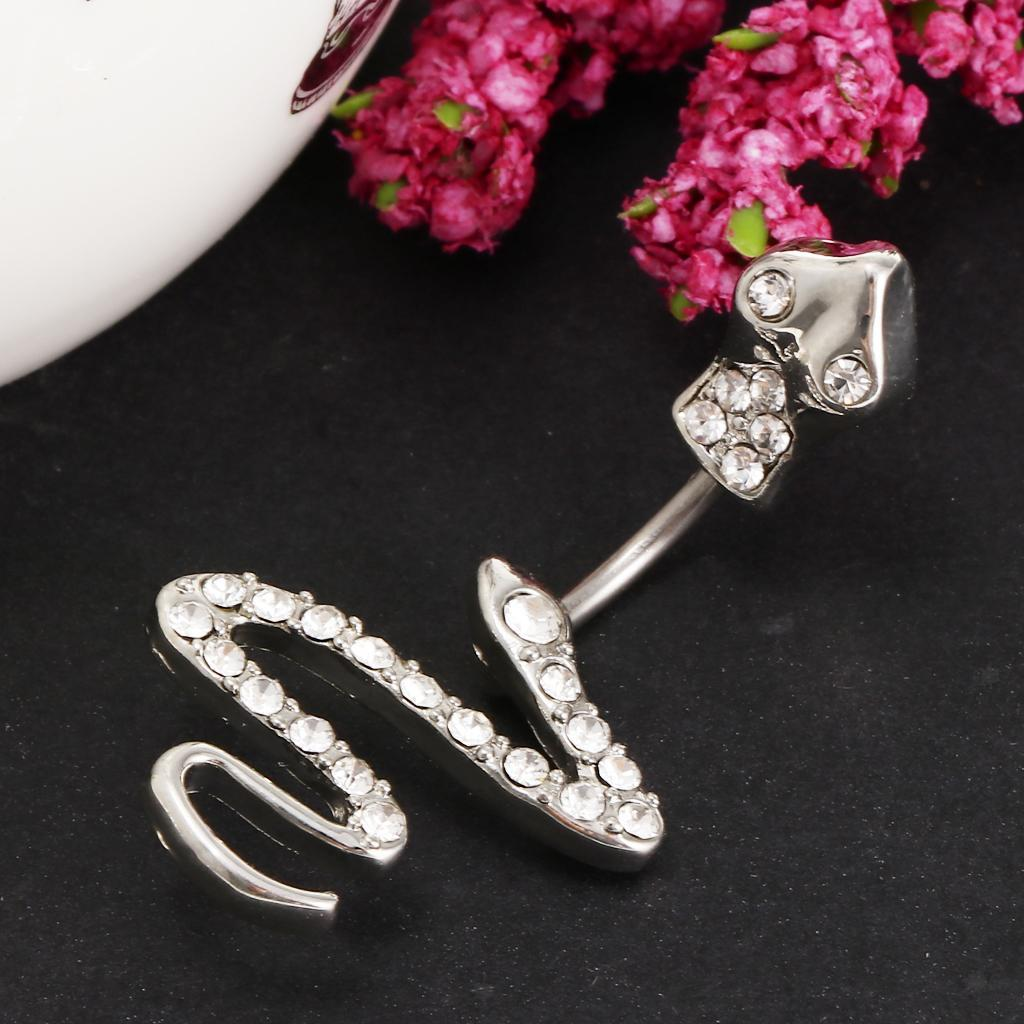 Anello-Piercing-per-Ombelico-in-Acciaio-Inox-con-Cristallo-Monili-Penetranti miniatura 3