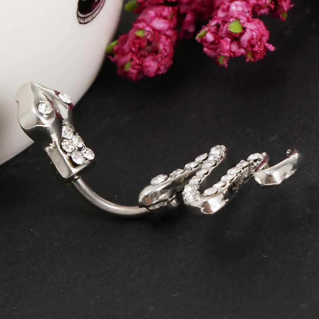 Anello-Piercing-per-Ombelico-in-Acciaio-Inox-con-Cristallo-Monili-Penetranti miniatura 4