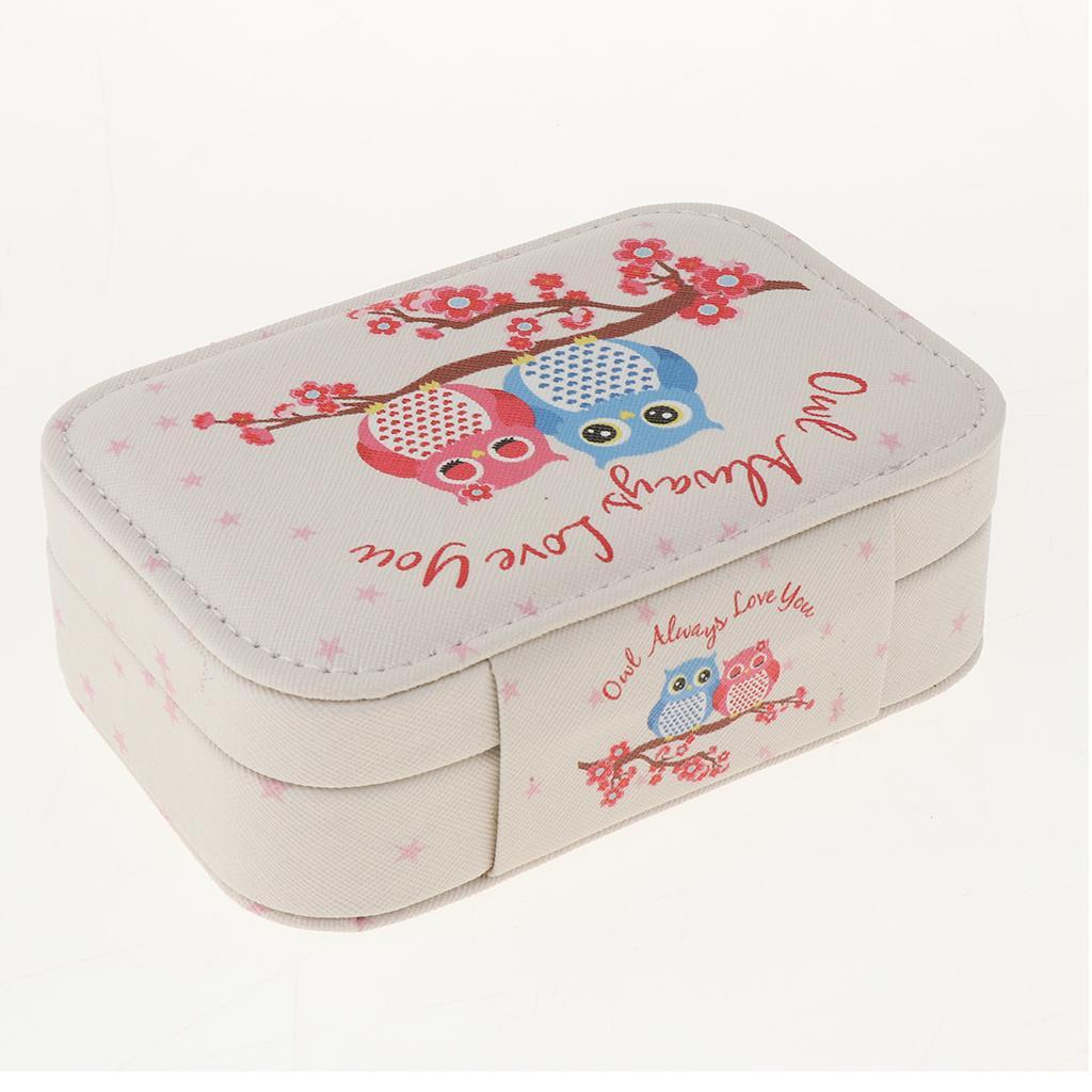 Portable-Women-Earring-Box-Display-Wedding-Jewelry-Travel-Box-Case-Small thumbnail 13