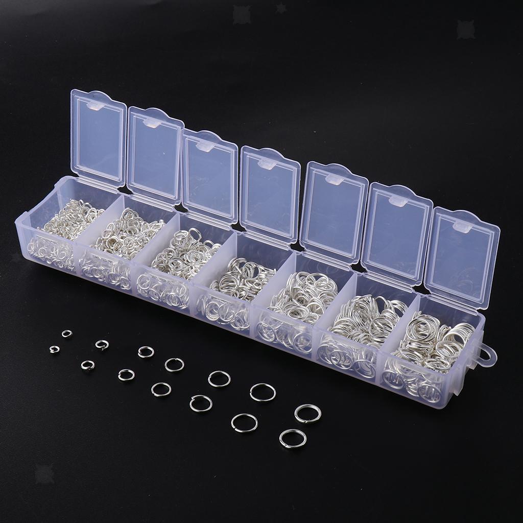 miniature 15 - Boîte de 1500 anneaux de sauts ouverts pour la fabrication de bijoux DIY