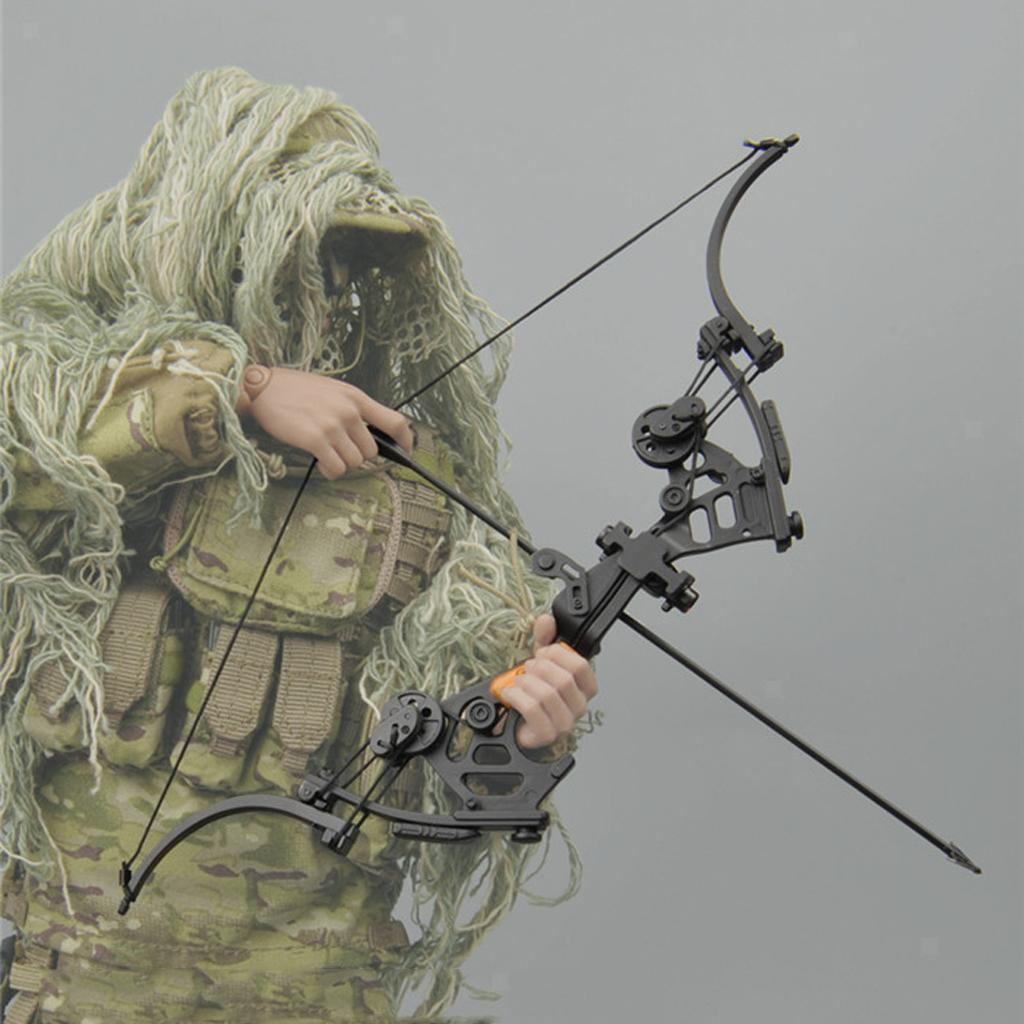 Miniature-Bow-amp-fleches-Set-for-1-6-scale-12-034-action-figure-man-First-Blood-Rambo miniature 11