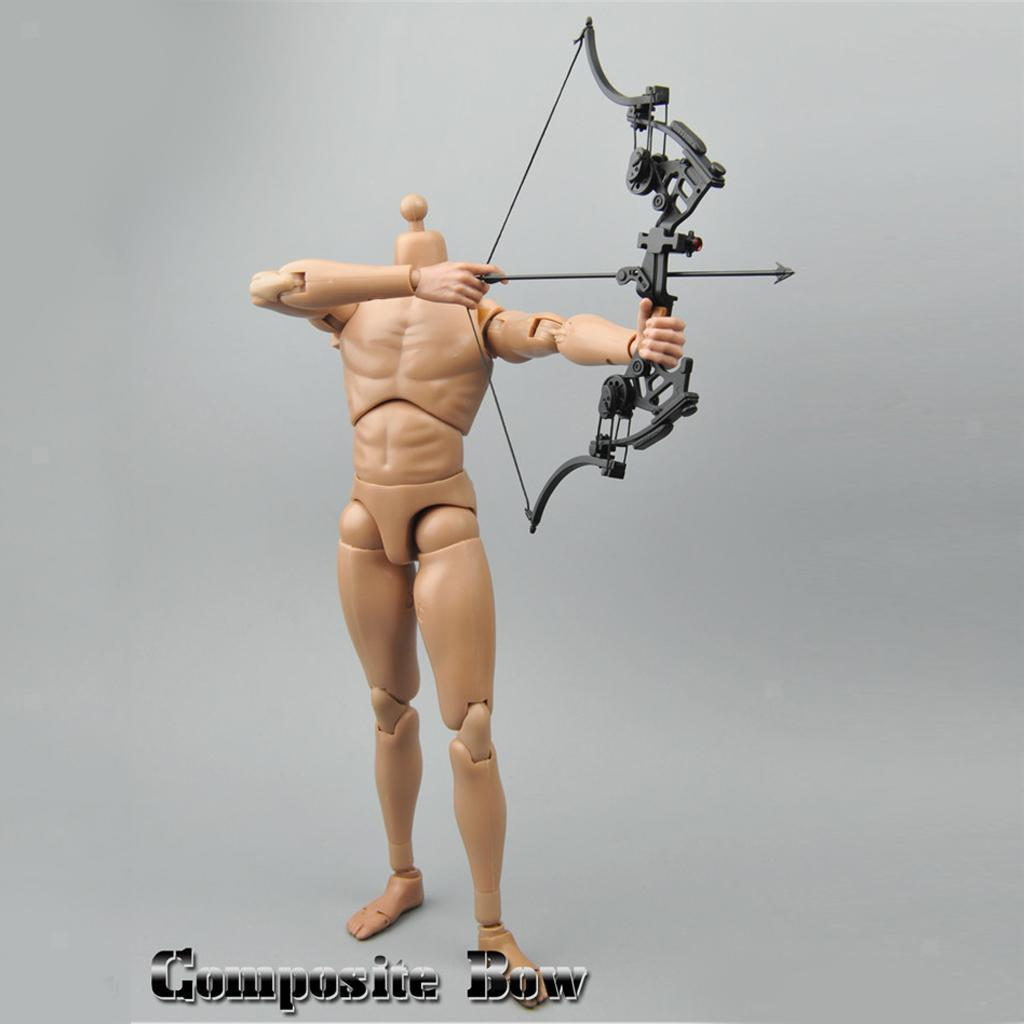 Miniature-Bow-amp-fleches-Set-for-1-6-scale-12-034-action-figure-man-First-Blood-Rambo miniature 13