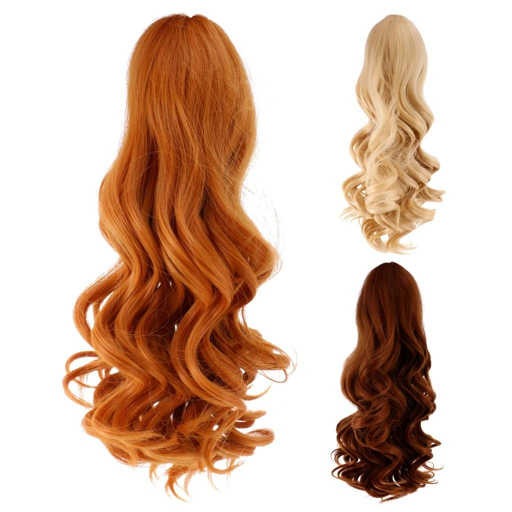 Straight-Wavy-Curly-Hair-Wig-for-18-039-039-Dolls-Clothes-Accessories thumbnail 18