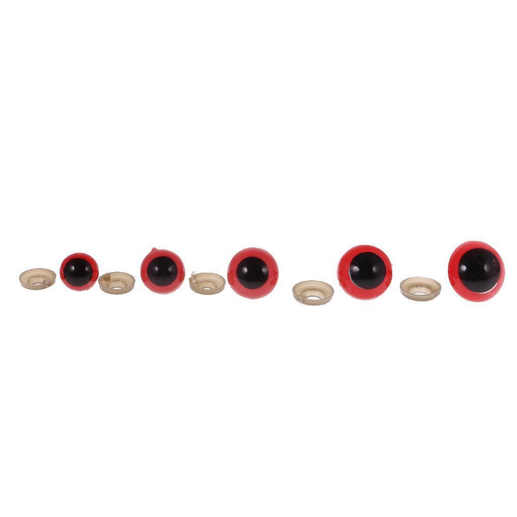 Yeux-de-Securite-Plastique-Plastique-Pour-DIY-Fabrication-Poupee-8-20mm-100Pcs miniature 7
