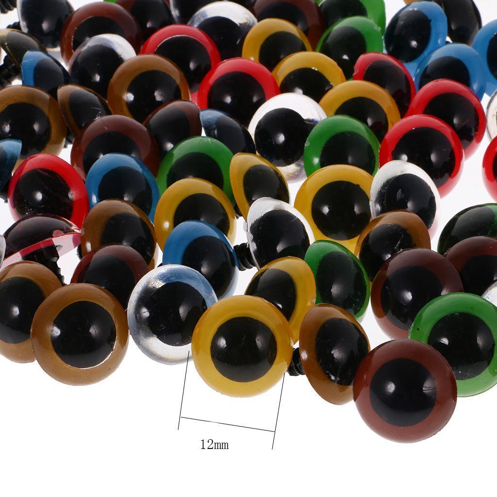 Yeux-de-Securite-Plastique-Plastique-Pour-DIY-Fabrication-Poupee-8-20mm-100Pcs miniature 4
