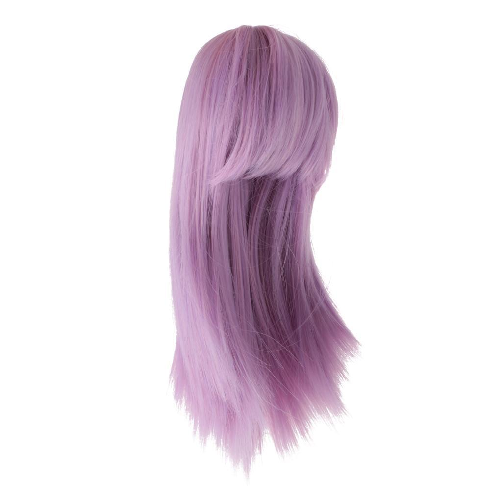 Straight-Gradient-Curly-Hair-Wig-for-18-039-039-Doll-Dress-up-Accessory thumbnail 60