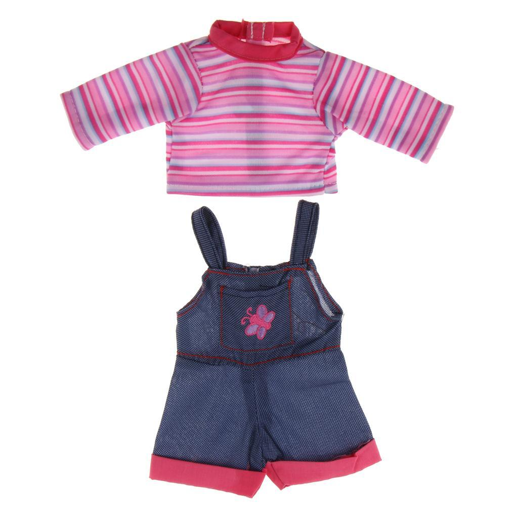 For-14-inch-Wellie-Wishers-American-Doll-Dolls-Clothing-T-shirt-Miniskirt-Romper thumbnail 18