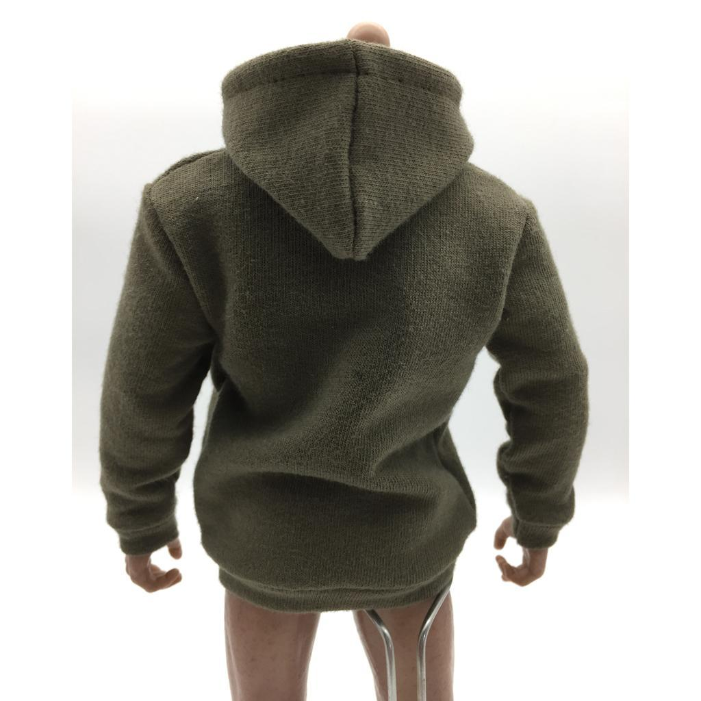 1-6-Scale-Mens-Long-Hoodie-Hooded-Sweatshirt-for-12inch-Action-Figure-Hot-Toys miniature 8