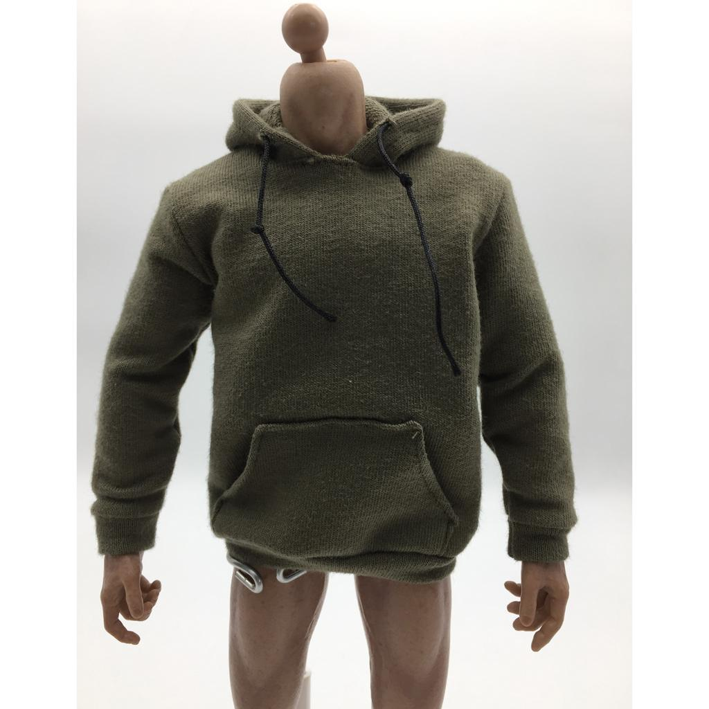 1-6-Scale-Mens-Long-Hoodie-Hooded-Sweatshirt-for-12inch-Action-Figure-Hot-Toys miniature 7