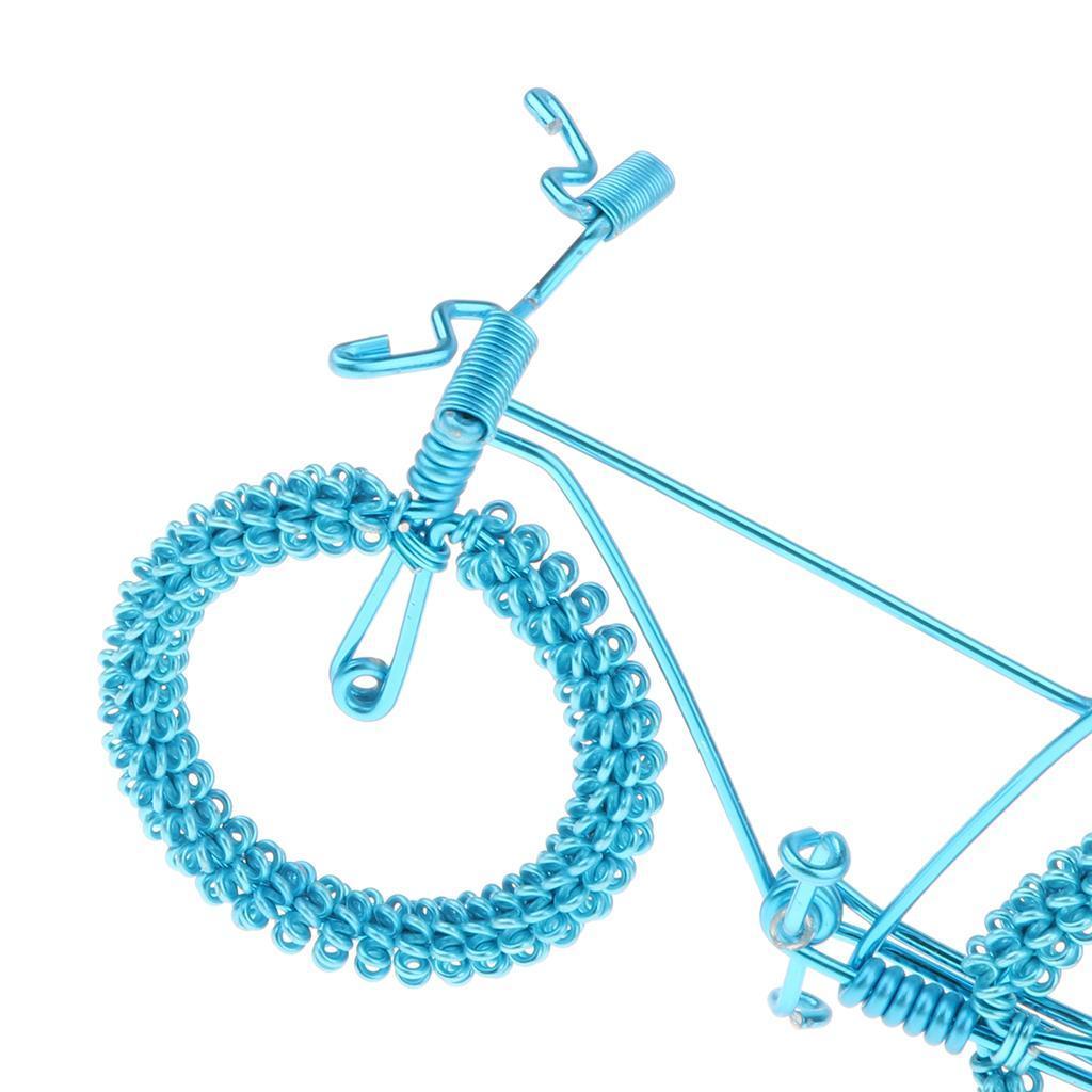 Giocattolo-Annata-Diecast-Bicicletta-Ornamento-Scrivania-Decorazione-Casa miniatura 18