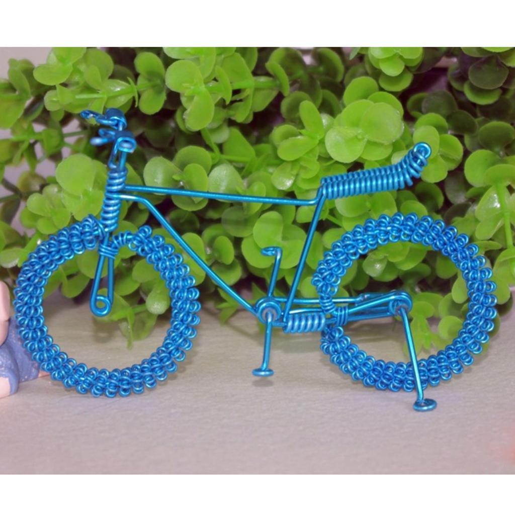 Giocattolo-Annata-Diecast-Bicicletta-Ornamento-Scrivania-Decorazione-Casa miniatura 17
