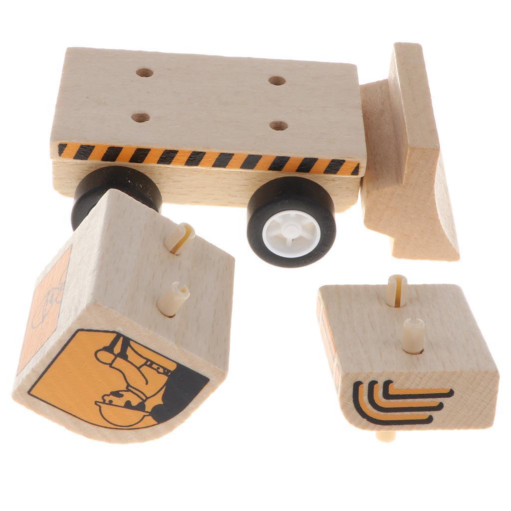 miniature 3 - Puzzle 3D Camion de Génie Jouet Montage en Bois Vehicule Simulation