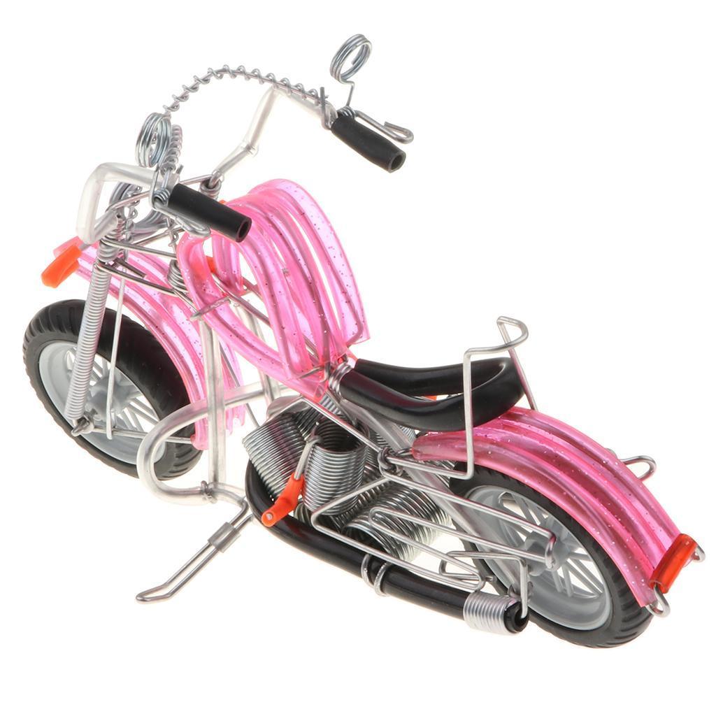 Mini-modello-di-moto-in-metallo-modello-di-moto-artigianato-perfetto-da miniatura 7