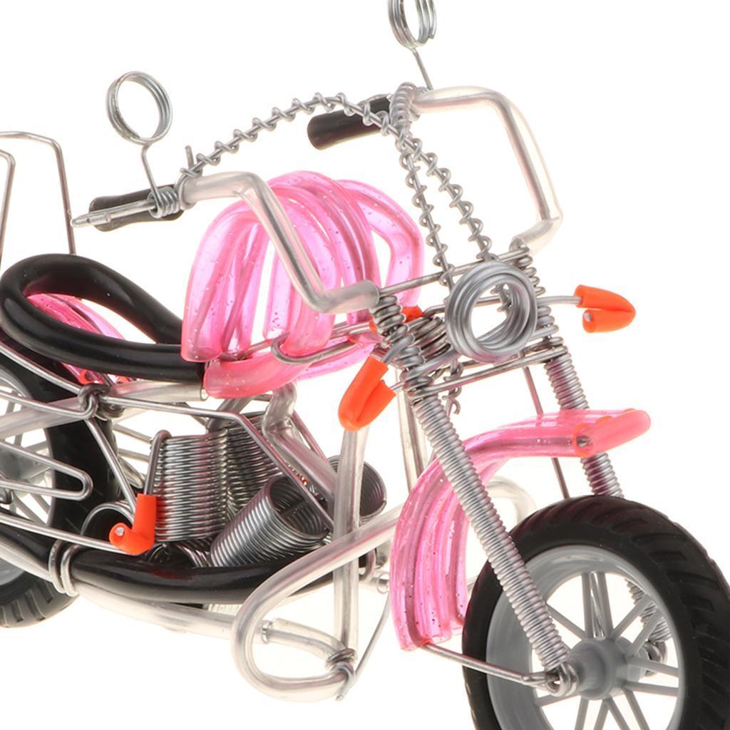 Modello-Di-Motocicletta-In-Metallo-Realistico-In-Ufficio-Vintage-Home-Decor miniatura 6