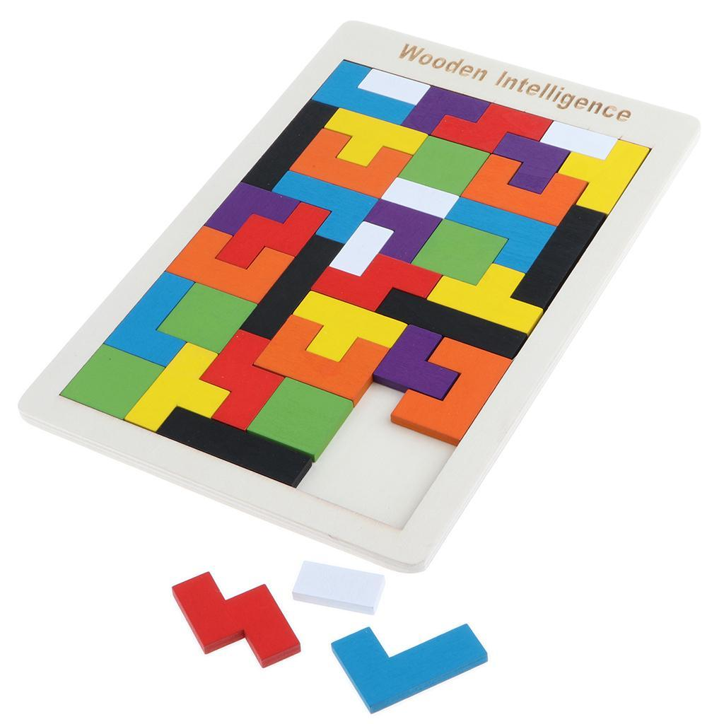 Wooden-Puzzle-Brain-Teasers-Toy-Educational-Gift-for-Kids-Children thumbnail 3