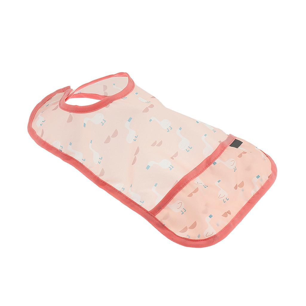 Baby-Waterproof-Bib-Comfort-Easily-Wipes-Clean-Feeding-Bibs miniature 3