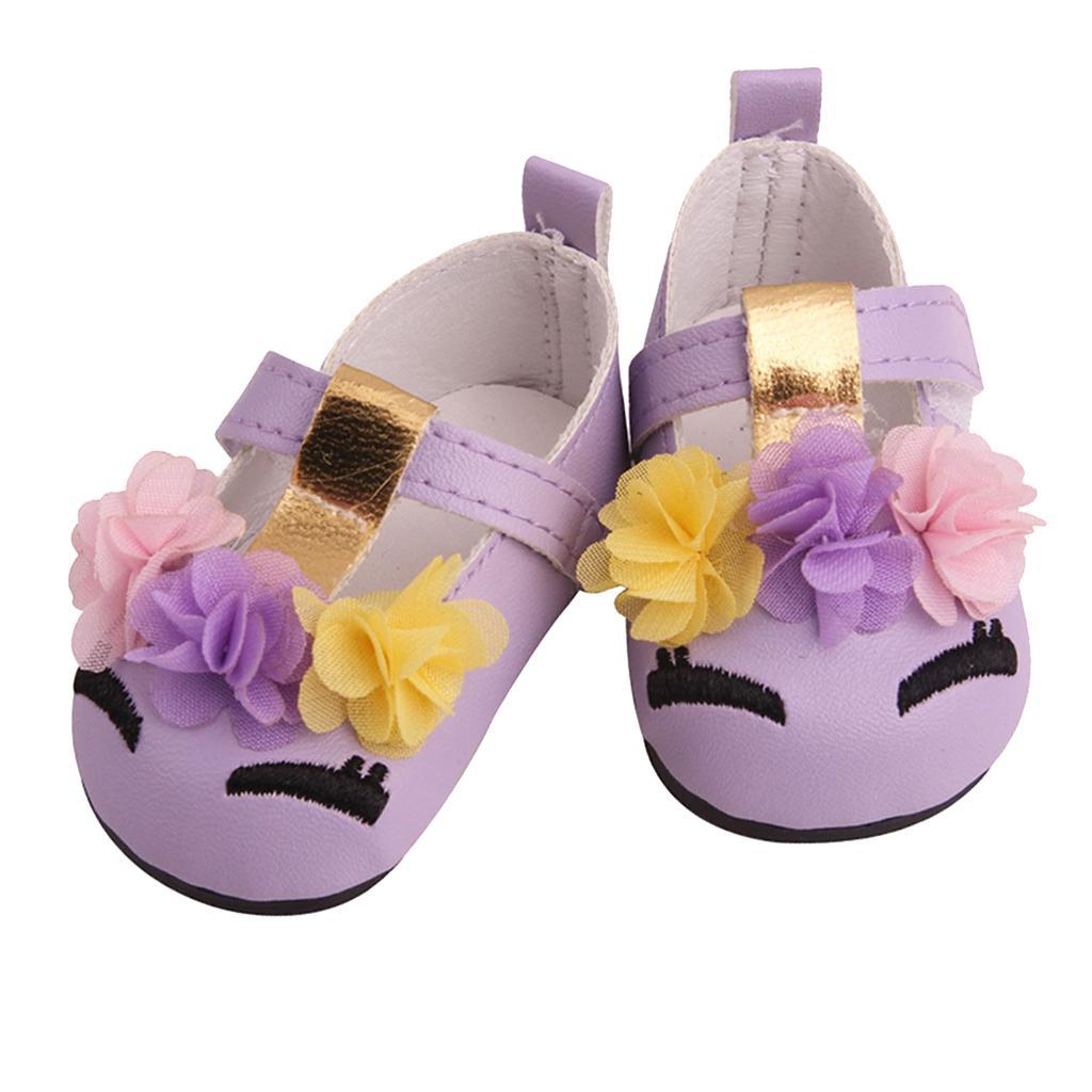 Charming-Floral-Summer-Shoes-Sandal-for-18inch-American-Doll-Dress-Up-Accs miniature 5