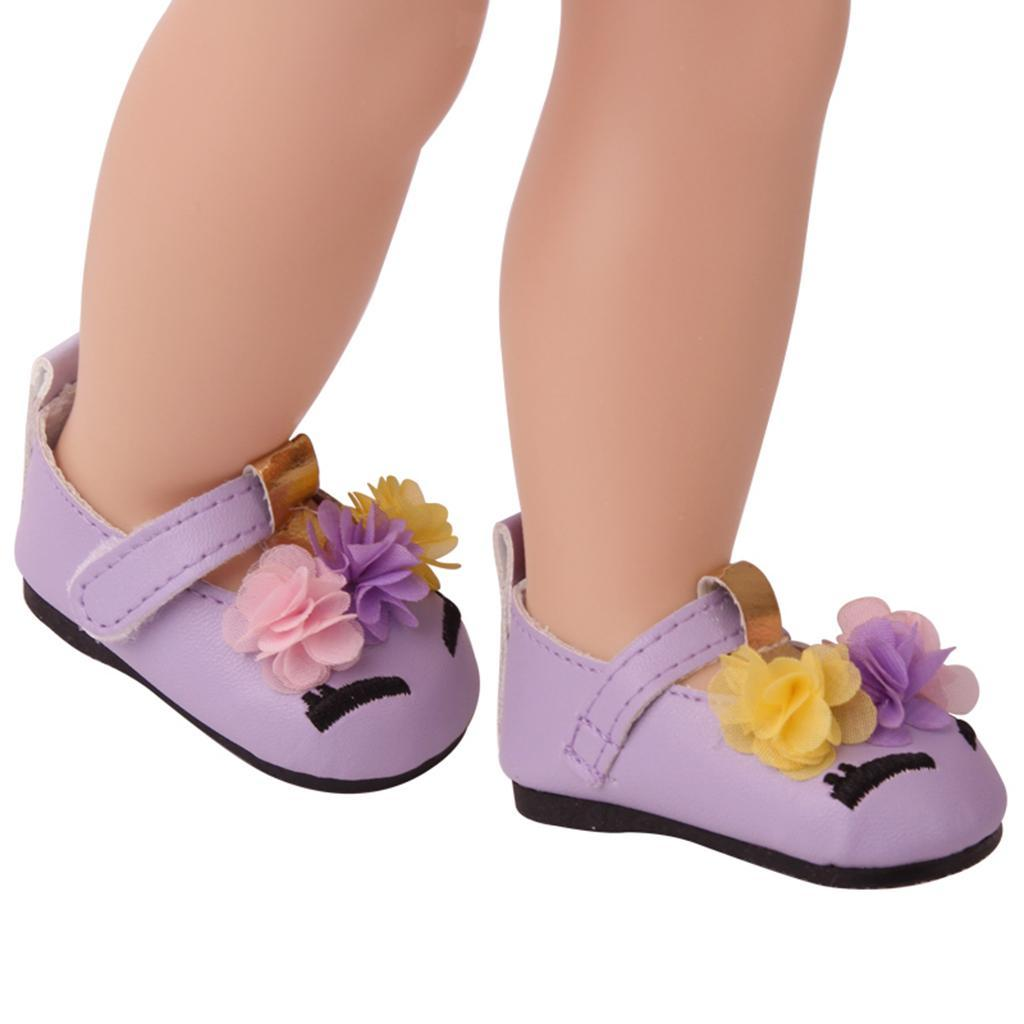 Charming-Floral-Summer-Shoes-Sandal-for-18inch-American-Doll-Dress-Up-Accs miniature 6