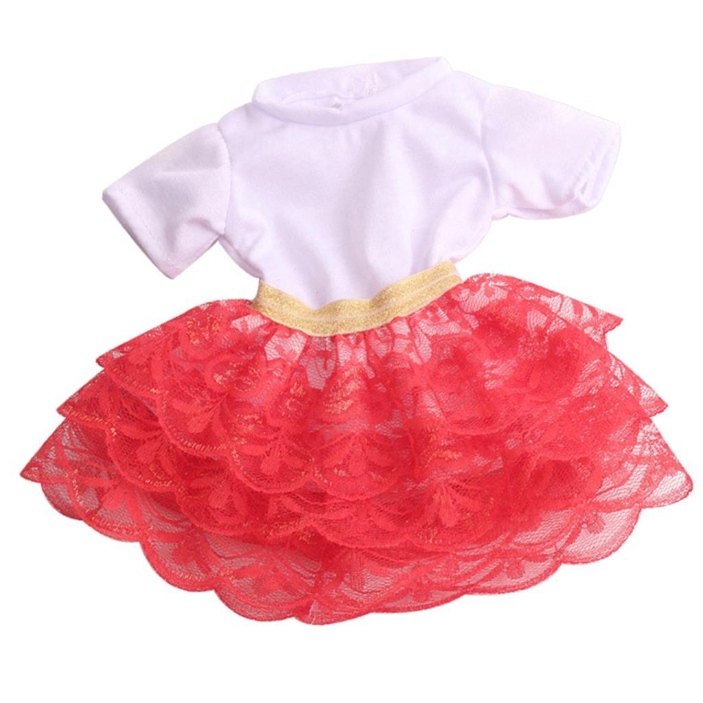 18inch-Girl-Doll-Princess-Skirt-for-American-Doll-Clothing-Accs-Kids-Gifts miniature 6