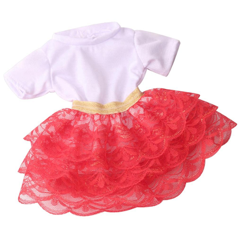 18inch-Girl-Doll-Princess-Skirt-for-American-Doll-Clothing-Accs-Kids-Gifts miniature 5