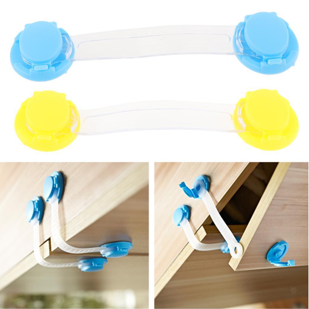 5Pcs-Multi-Purpose-Baby-Kids-Plastic-Drawer-Door-Cabinet-Safety-Lock-DIY-Kit thumbnail 4
