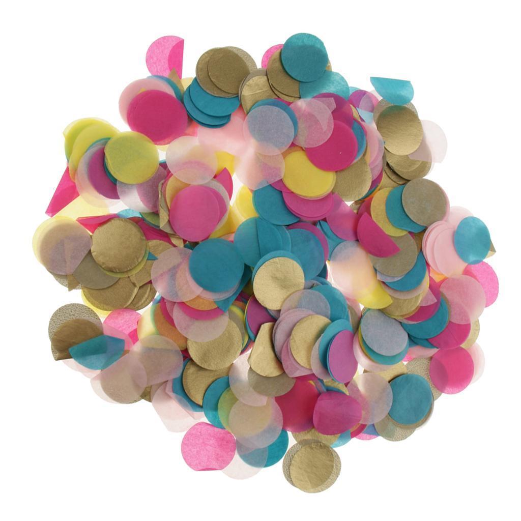 30g-Round-Tissue-Paper-Throwing-Confetti-Party-Balloon-Confetti-Wedding-Decor miniature 14