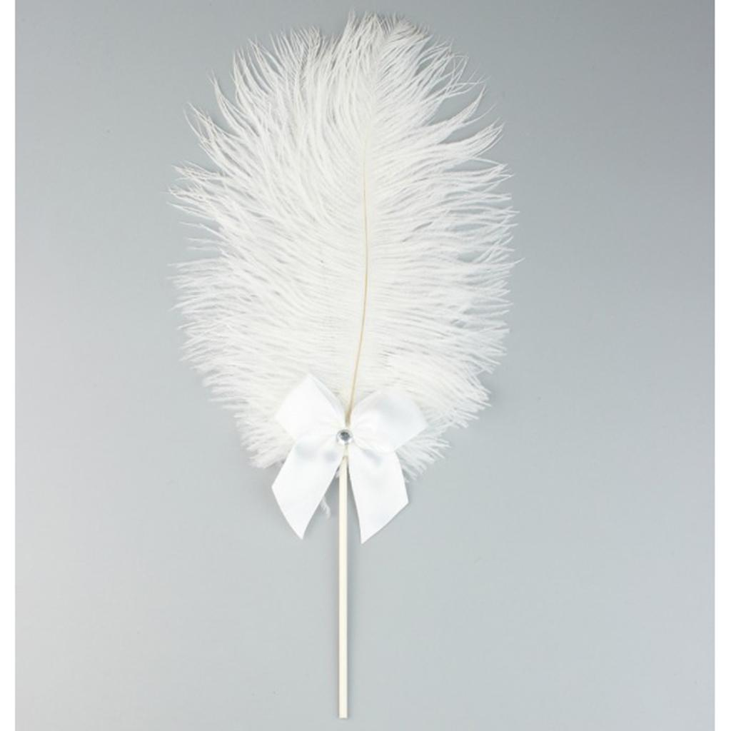 Cake-Topper-Feather-Decor-Cake-Insert-Card-For-Wedding-Party thumbnail 3