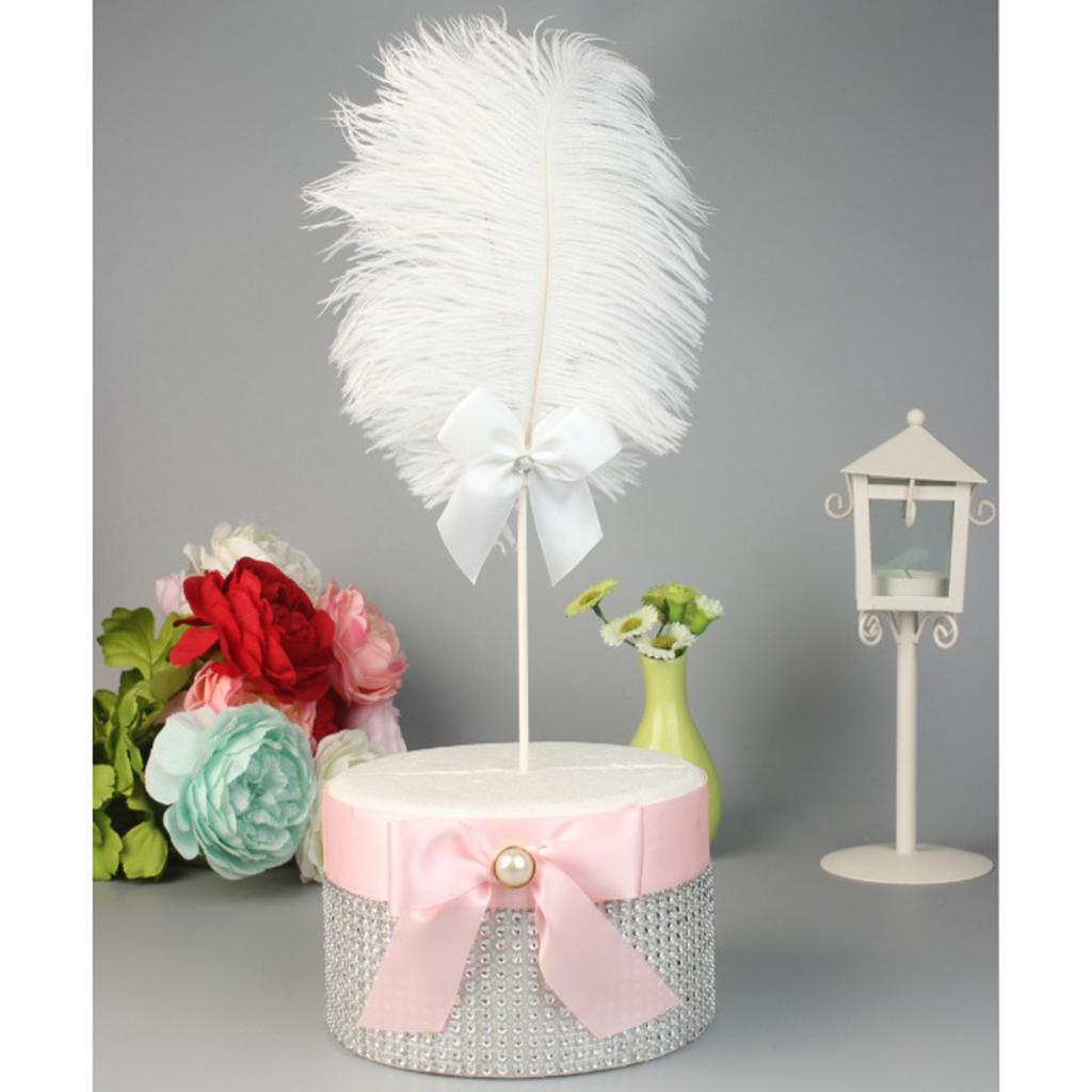 Cake-Topper-Feather-Decor-Cake-Insert-Card-For-Wedding-Party thumbnail 4