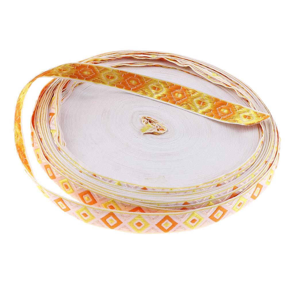 50-yards-DIY-Embroidery-Ethnic-Lace-Ribbon-Trim-Jacquard-Fabric-Sewing-Tape thumbnail 21