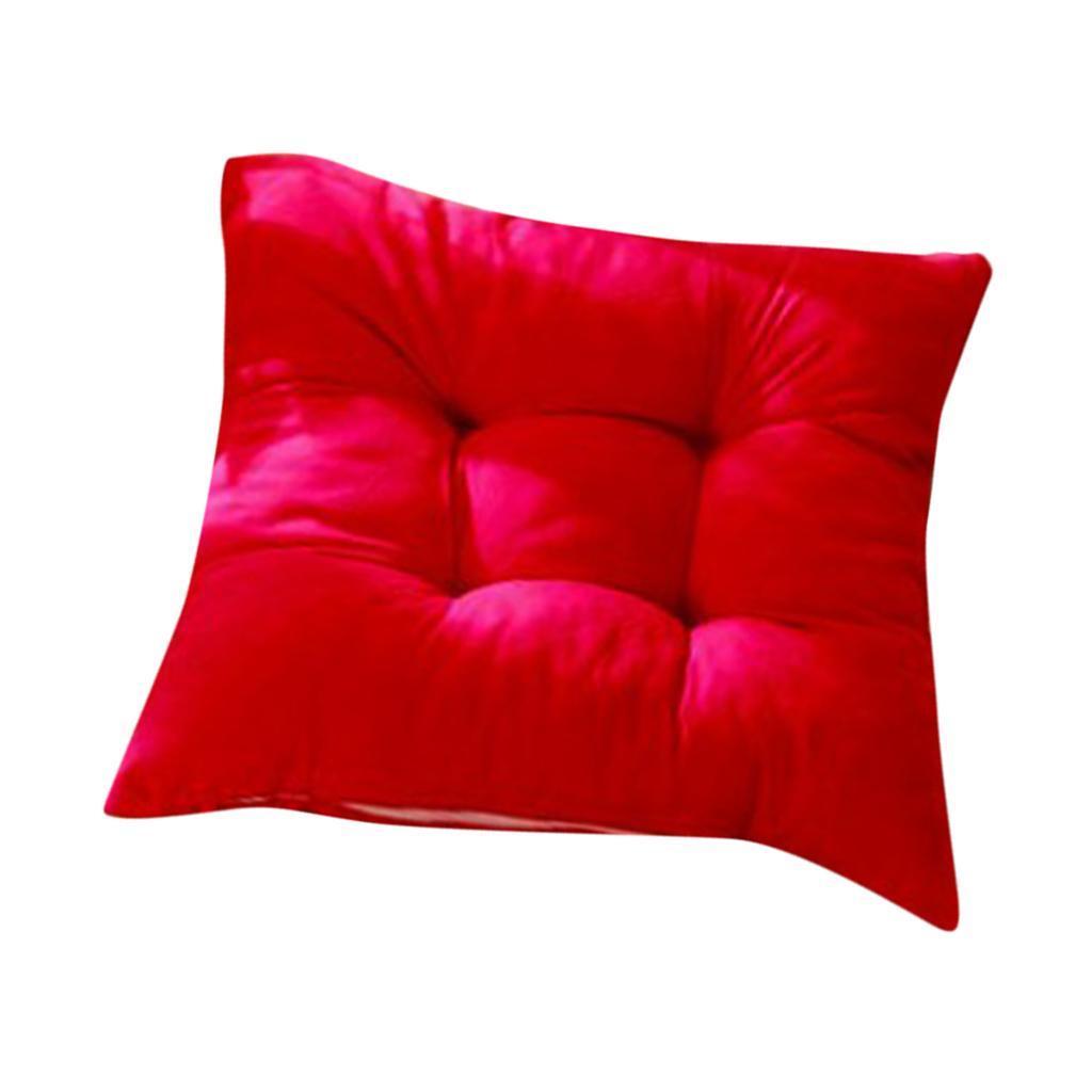 thumbnail 13 - Square-Chair-Cushion-Cushion-Pillow-for-Home-Office-14-Colors-40x40cm