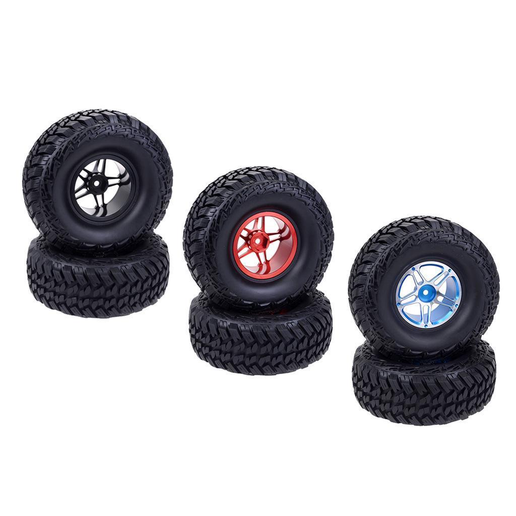 2Pcs-Tire-Tyres-for-TRX4-VRX-Racing-1-10-RC-Car-Truck-Part-Accessory miniature 4