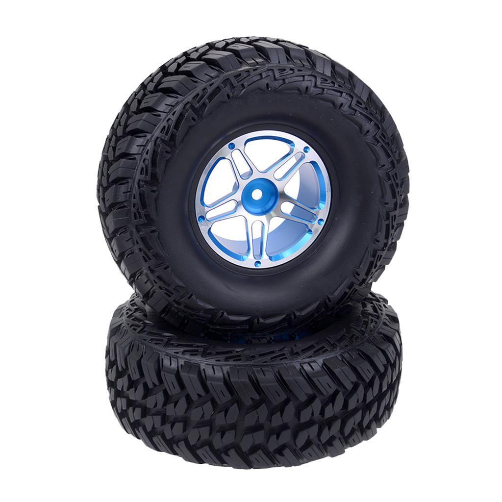 2Pcs-Tire-Tyres-for-TRX4-VRX-Racing-1-10-RC-Car-Truck-Part-Accessory miniature 9