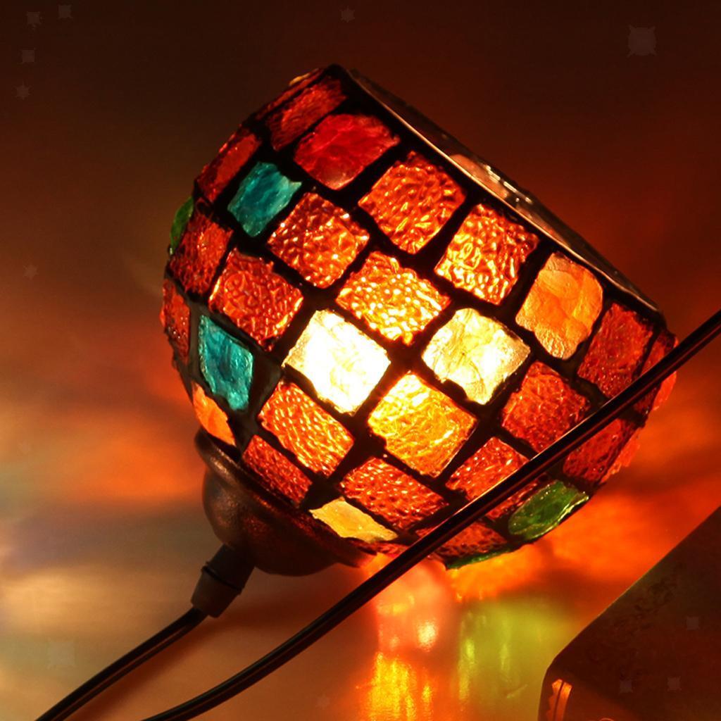 Mosaic-Style-Hanging-Light-Ceiling-Pendant-Lamp-Retro-Lampshade-Cafe-Restaurant thumbnail 18