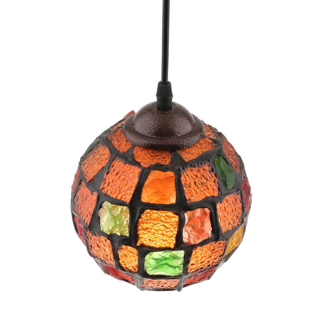 Mosaic-Style-Hanging-Light-Ceiling-Pendant-Lamp-Retro-Lampshade-Cafe-Restaurant thumbnail 20