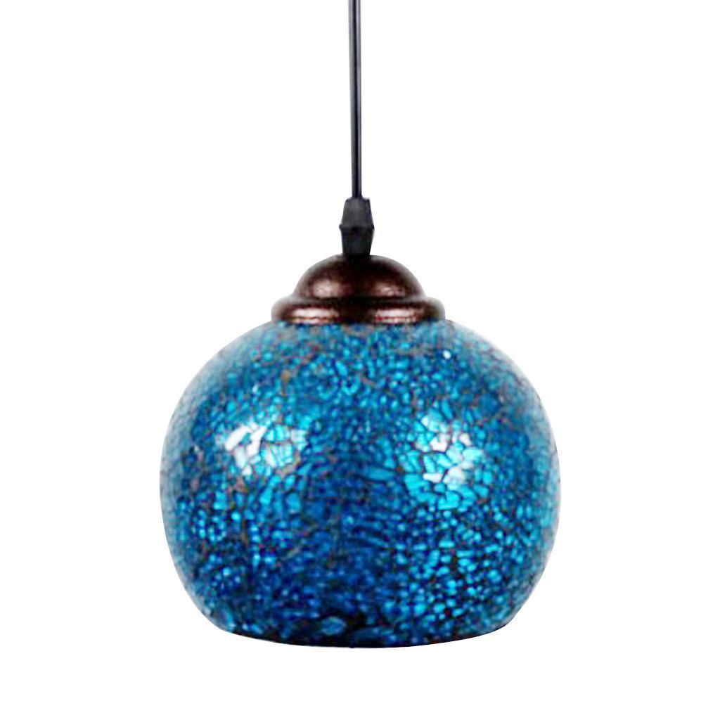 Mosaic-Style-Hanging-Light-Ceiling-Pendant-Lamp-Retro-Lampshade-Cafe-Restaurant thumbnail 65