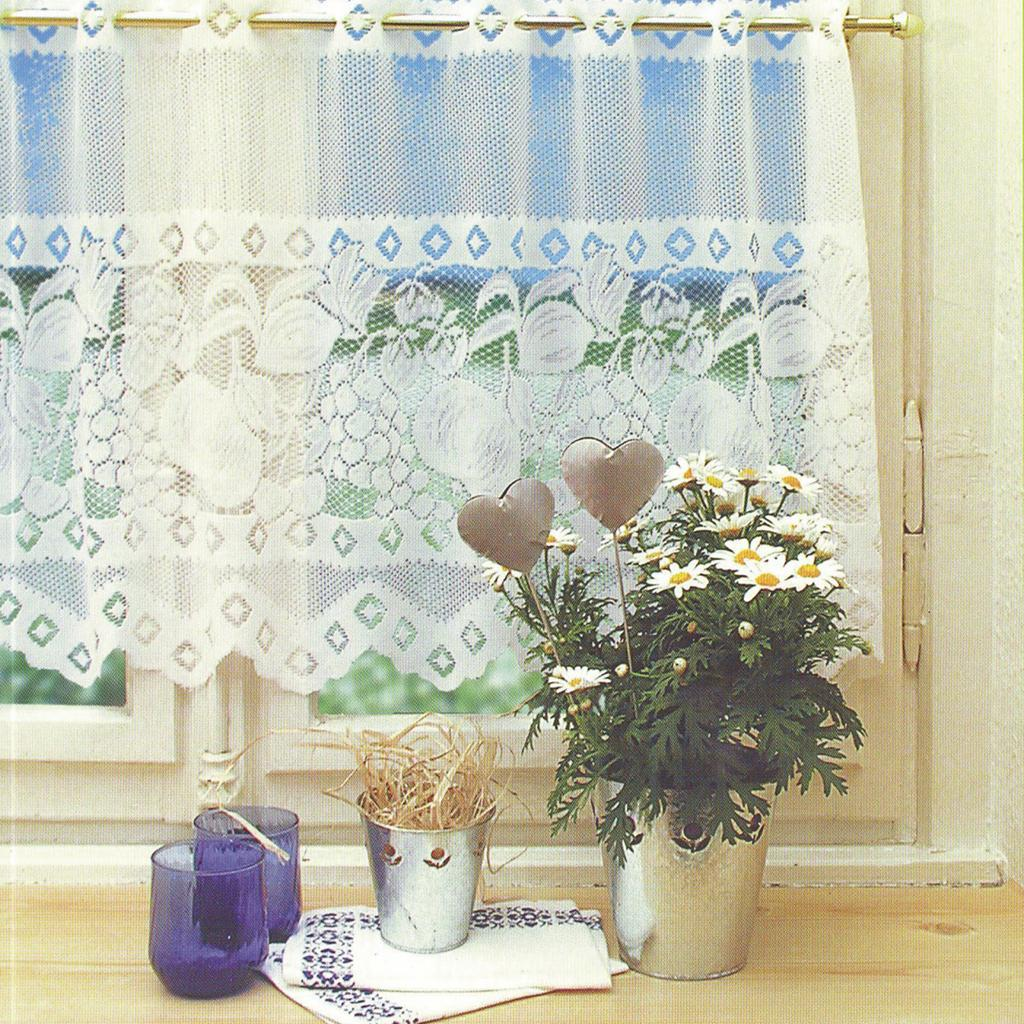 Net Lace Curtain Tiers Cafe Curtains Kitchen Room Window ...