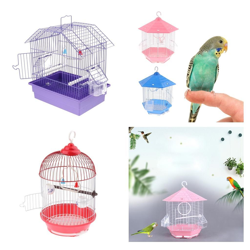 Details about Classic Round/Square Bird Cage With Stand Finch Cry Cockatiel  Parakeet Budgie
